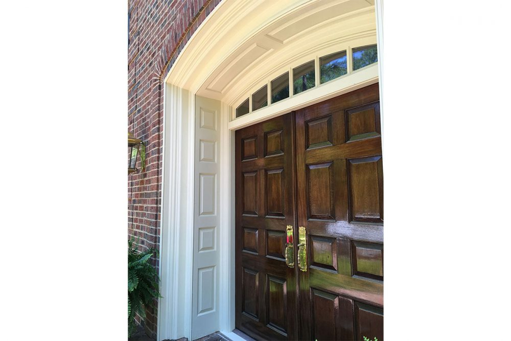 Elliptical Arched Entrance with Raised Panel Jambs and Header