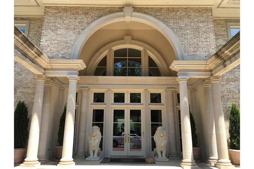 Cast Stone Entrance